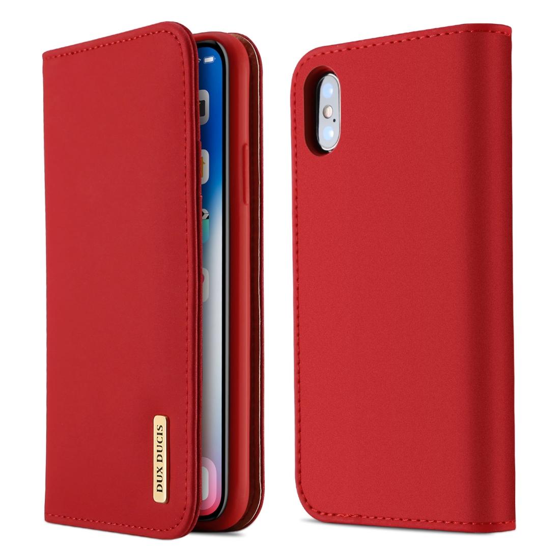 Flipové pouzdro na iPhone X/ XS Wish Premium - červená