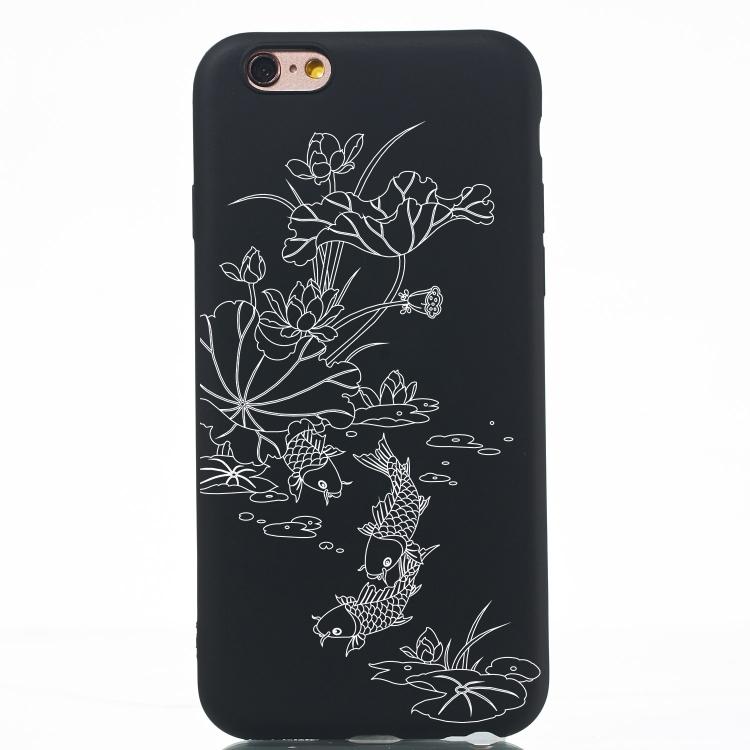Ornament Kryt na iPhone 6 Plus/ 6S Plus (ryby) - černá