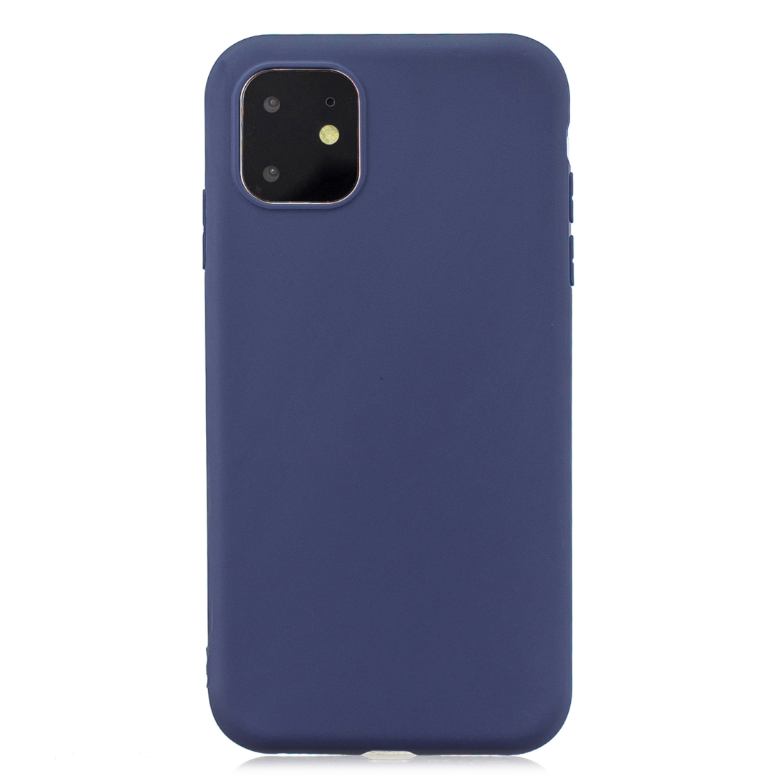 Matný silikonový obal na iPhone 11 - tmavě modrá