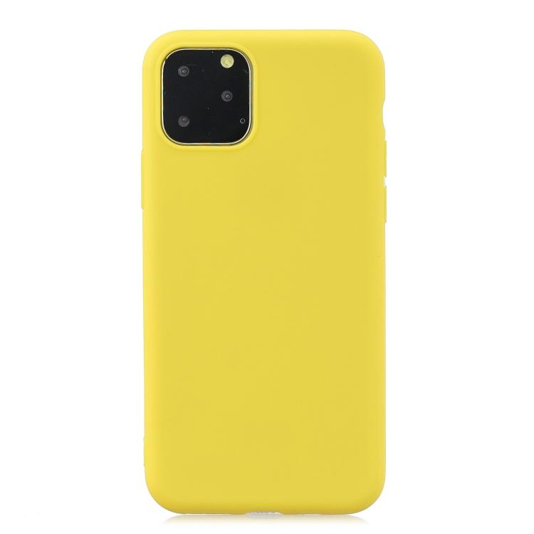 Matný silikonový obal na iPhone 11 Pro - žlutá