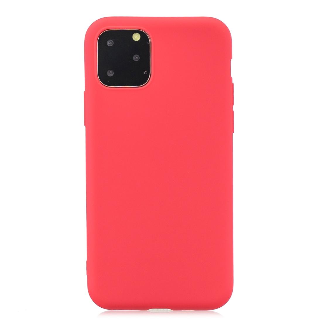 Matný silikonový obal na iPhone 11 Pro - červená