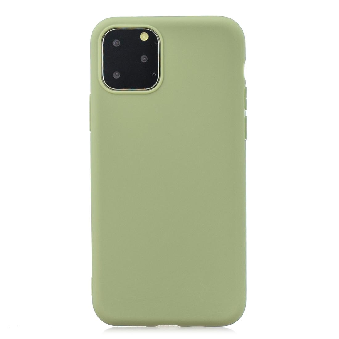 Matný silikonový obal na iPhone 11 Pro - hráškově zelená