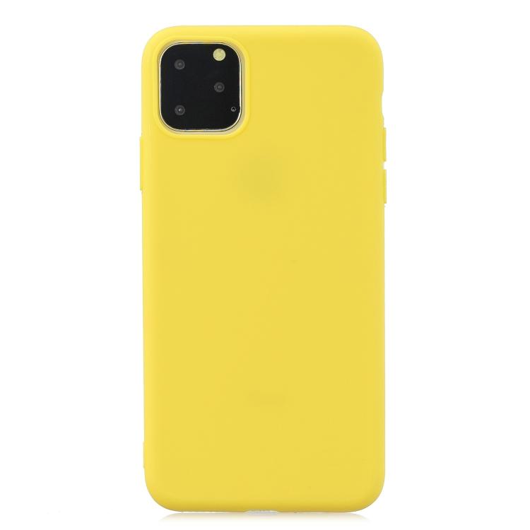 Matný silikonový obal na iPhone 11 Pro Max - žlutá