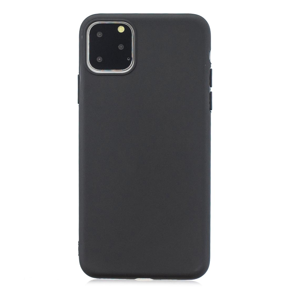 Matný silikonový obal na iPhone 11 Pro Max - černá