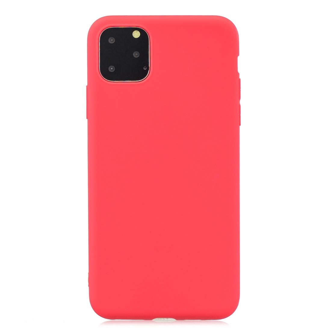 Matný silikonový obal na iPhone 11 Pro Max - červená