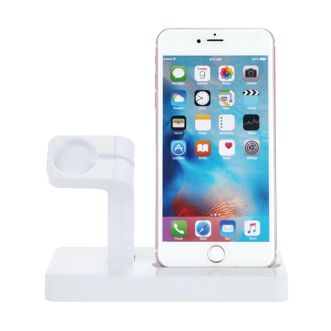Nabíjecí stojánek pro iPhone a Apple Watch - bílá