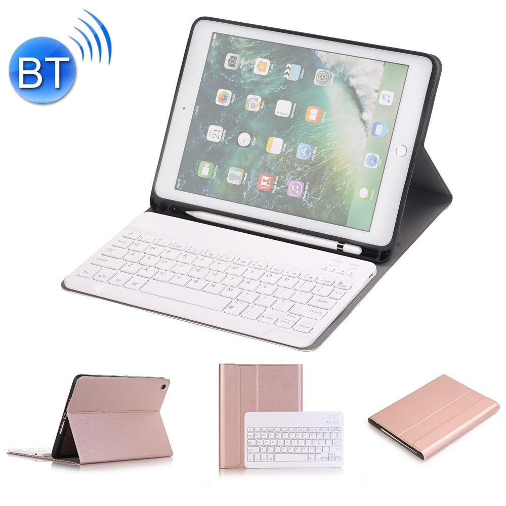 Klávesnice pro iPad + slot pro Apple Pencil - růžově zlatá