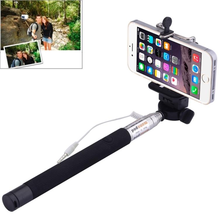 Teleskopická selfie tyč na mobil / iPhone - černá
