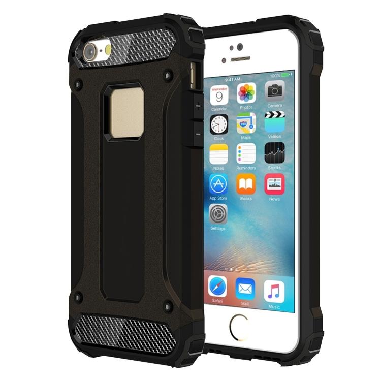 Armor kryt Defiant na iPhone SE 2016/ 5/ 5S/ 5C - černá