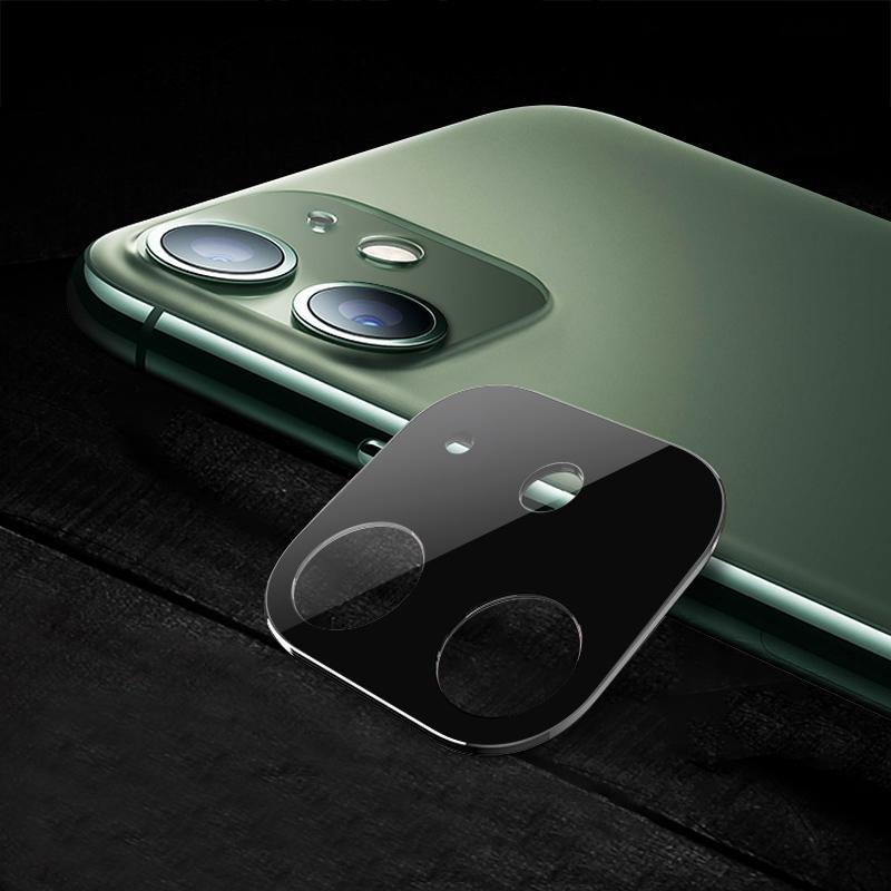 Tvrzené sklo Titanium na zadní kameru iPhone 11 - stříbrná