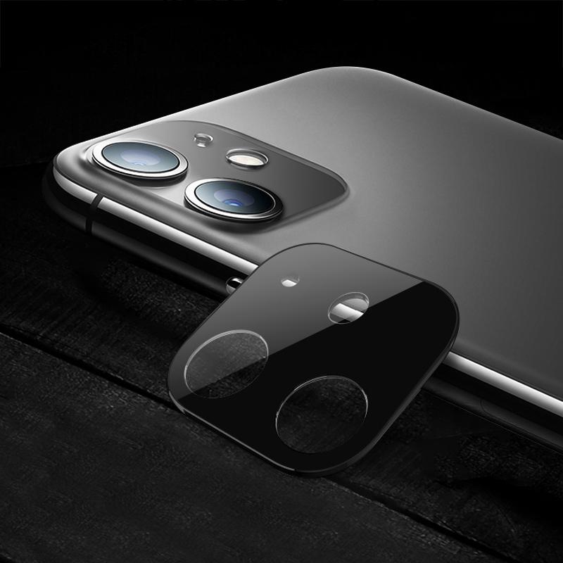 Tvrzené sklo Titanium na zadní kameru iPhone 11 - černá