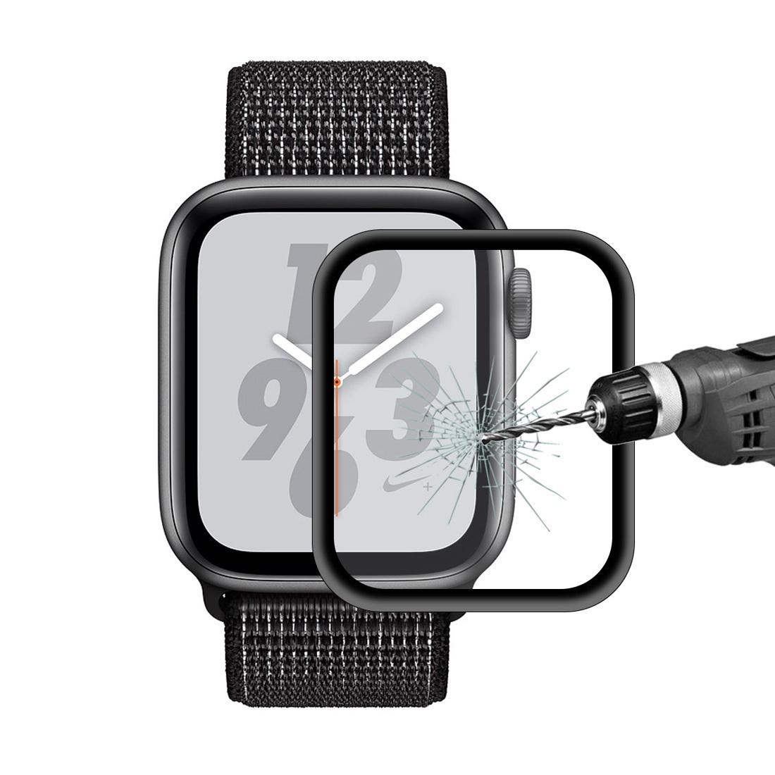 Tvrzené sklo s kovovým rámečkem pro Apple watch 44mm