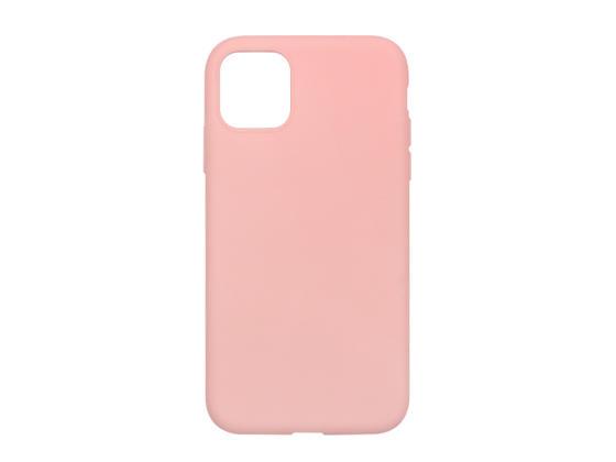 Silikonový matný obal na iPhone 11 Pro - světle růžová