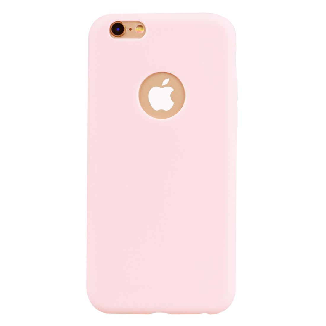 Obal s výřezem na logo na iPhone 6 Plus/ 6S Plus - Candy Pink